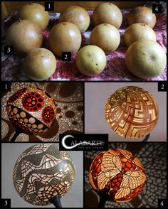 Not coconuts, but amazing gourd art . Suprisingly I have only one picture of all those gourds altogether. It took me a while to recognize which lamp was made from which gourd but here they are. Moroccan Pendant Light, Gourd Lamp, Bamboo Crafts, Flower Frog, Bone Carving, Shell Art, Moroccan Decor, Shell Crafts, Coconuts