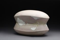 Missy McCormick. Silver lining Keep Sake Container, Press molded earthenware, Fumed Terra sigillata, 5.5 x 11 x 7 . $275