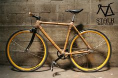 Fascinating. Sustainably built bicycle made in San Francisco out of locally grown bamboo!! by Stalk Bicycles.