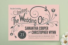 Vintage Blush Wedding Invitations from Minted (available in letterpress or printed) Reception Only Wedding Invitations, Vintage Wedding Invitations, Rustic Invitations, Letterpress Wedding Stationery, Wedding Stationary, Stationery Design, Do It Yourself Home, Wedding Paper, Invitation Design