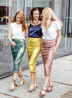 Sequins Embroidery Ochre Skirt Pencilskirt St.Gallen Rock, Sequin Skirt, Sequins, Embroidery, Skirts, Fabric, Fashion, Timeless Fashion, Moda