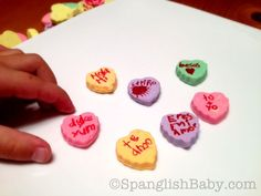 Create Your Own Conversation Hearts in Spanish for San Valentín