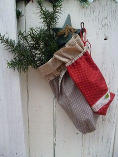 Weihnachtssäckchen aus Stoff zum Befüllen