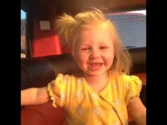 Baby Lux in the 1D tour bus giggling she is so stinkin cute