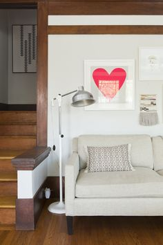 Like this framed heart...could be cut out or painted from Living With Kids: Shira Gill