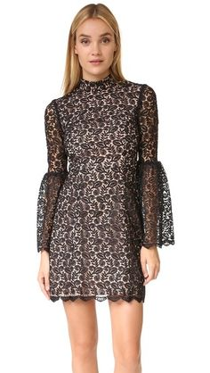 Jill Jill Stuart Кружевное платье с воротником под горло | SHOPBOP