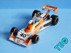F1 Paper Model - 1976 GP Dutch Tyrrell 007 Paper Car Free Template Download