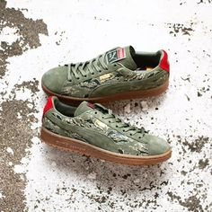 SBTG × mita sneaker x Puma Clyde 'First Contact': Olive/Camo