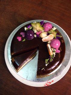 Coffee n coconut milk agar cake