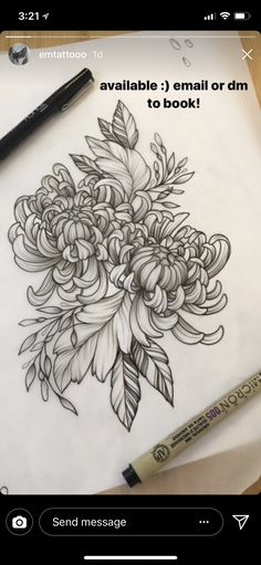 Discover recipes, home ideas, style inspiration and other ideas to try. Ankle Tattoos For Women, Sleeve Tattoos For Women, Tattoos For Guys, Quarter Sleeve Tattoos, Floral Tattoo Design, Flower Tattoo Designs, Leg Tattoos, Black And Grey Tattoos, Japanese Flower Tattoo