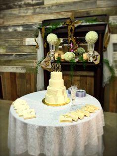 Brides cake table at White Acre farms by Original Grace Events. www.OriginalGraveEvents.com