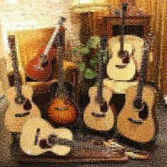 """Acoustic Guitars"" by Joshua, a zoomable photo tile #mosaic at #TileArray ( #mosaics #guitar #guitars )"