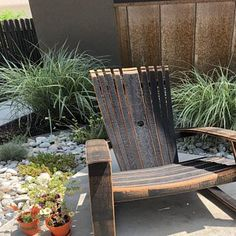 Jaime Heather Intile added a photo of their purchase Patio Chairs, Outdoor Chairs, Outdoor Decor, Lounge Chairs, Bourbon Barrel Furniture, Reclaimed Wood Benches, Barrel Chair, Whiskey Barrels, Free Plans