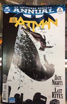 Batman #2 Annual / Bruce & Selina 1st Date / DC Rebirth 2017 / 1st Print / Selling Now!!!