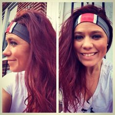 A cotton Lycra headband hand painted to resemble the ohio state buckeyes helmet. Perfect accessory for gameday . Cute and functional