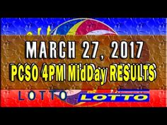 PCSO MidDay - 4PM Results March 27, 2017 (SWERTRES & EZ2) Lotto Results, Lottery Tips, April 25, February, Positive Affirmations, Online Business, Stress, Positivity, Youtube