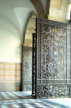 ornate gates--When we finally have a house, I want to use old ornate gates to create our fence line (to hide a plain wooden fence)--CG