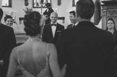 When the groom sees the bride...Such a sweet moment! | Photo by: Nordica Photography