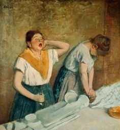 The Laundresses, Edgar Degas.