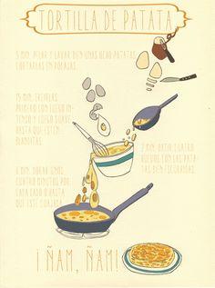 Mónica Galán Ilustración #tortilla de #patatas
