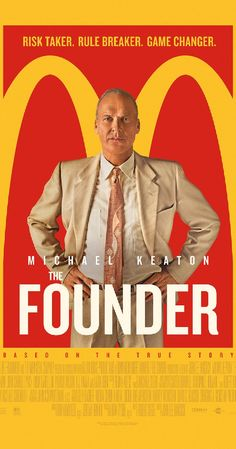 The Founder (US, 2016) The true story of Ray Kroc, who built the McDonald's restaurant empire, is fascinating, amusing, and occasionally disturbing. Like another famous CEO, Steve Jobs, Kroc was not always a kind person. 3.3 stars