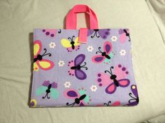 Activity Carry Busy Bag in Butterfly brushed by RectoryCrafts