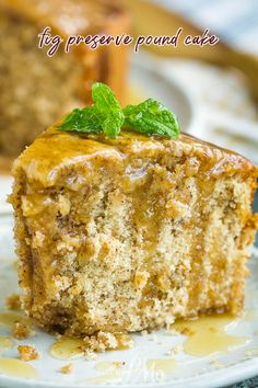 Ideal for fall, Fig Preserve Pound Cake Recipe has beautiful warm flavors from fig preserves and spices #cake #poundcake #poundcakepaula #dessert #recipe #homemade #fromscratch #fig #preserves Fig Recipes, Pound Cake Recipes, Best Dessert Recipes, Almond Recipes, Easy Desserts, Baking Recipes, Pound Cakes, Sweets Recipes, Decadent Cakes