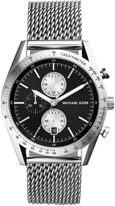 $275, Silver Watch: Michael Kors Michl Kors Silver Stainless Steel Mesh Strap Accelerator Watch. Sold by Neiman Marcus.