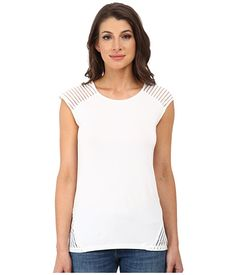 Calvin Klein Calvin Klein  Sleeve Top w Shawdow Stripe Soft Womens Sleeve Knit for 39.99 at Im in!