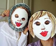 Fun with paper plates. Love these simple paper plate masks! Fun with paper plates. Love these simple paper plate masks! Paper Plate Masks, Paper Plate Art, Paper Plate Crafts For Kids, Paper Plates, Diy Crafts For Kids, Arts And Crafts, Craft Kids, Gugu, Bunny Crafts