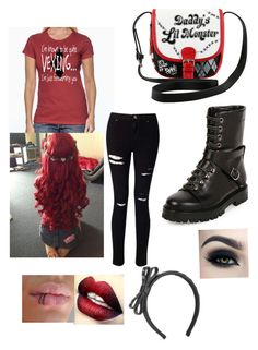 """""""This sure as hell ain't over"""" by rainy-kat ❤ liked on Polyvore featuring Miss Selfridge, Valentino and RED Valentino"""