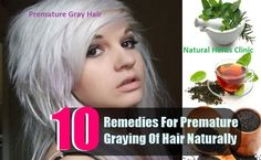 Premature Gray Hair is a symptom of improper protein creation. Natural treatment helps in get rid of gray hair and prevent premature graying causes... http://www.naturalherbsclinic.com/premature-gray-hair.php