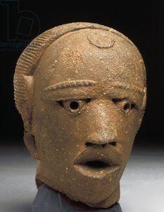 Title     Head, Jemaa, Nigeria (terracotta) Creator     Iron Age, (5th century BC) Location     Private Collection Medium     terracotta