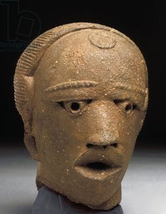 Title     Head, Jemaa, Nigeria (terracotta) Creator     Iron Age, (5th century BC) Location     Private Collection Medium     terracotta