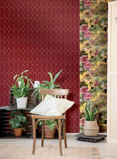 Red, the colour of fire and blood, a colour that ignites an array of emotions. From feelings of passion to associations with aggression and even danger. This is a perfect accent colour. Bordeaux, Colors Of Fire, Accent Colors, Decoration, Curtains, Wallpaper, Beautiful, Home Decor, Blood