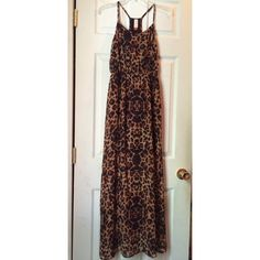 Leopard maxi dress Size small! In great conditions! No Boundaries Dresses Maxi