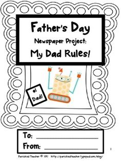 This fun project can be made into book that your students can give to their dad on Fathers Day as a gift.  Students can also pick and choose which...