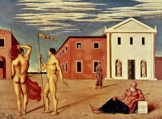 Giorgio de Chirico, Departure of the Argonauts ,1921, Oil