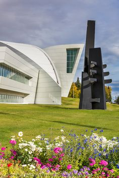 Summer flowers at the Museum of the North, University of Alaska, Fairbanks.
