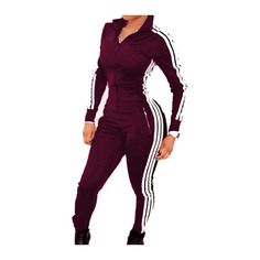 Rotita Wine Red Pocket Design Ankle Length Jumpsuit ($22) ❤ liked on Polyvore featuring jumpsuits, wine red, jumpsuits & rompers, skinny jumpsuit, skinny leg jumpsuit, red jump suit and print jumpsuit