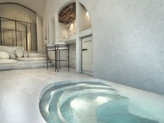 Hotel Architecture, Villa Design, Modern Bedroom Design, Main Entrance, Santorini, Interior Design, House, Pools, Opportunity