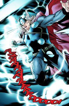 Thor #2 Marvel Dc Comics, Thor Marvel, Loki Thor, Fun Comics, Avengers, Comic Book Artists, Marvel Universe, Female Thor, Lady Loki