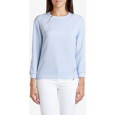 Ted Baker Asymmetric Zip Sweatshirt Powder Blue
