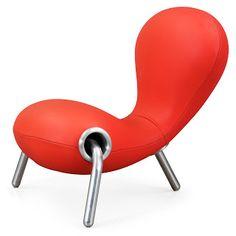 Embryo Chair 1988 Marc Newson, polyurethane foam with chromed steel & bi-elastic fabric, 80 cm x 85 cm x 45/80 cm