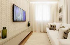 Dicas e truques de decoração para deixar a sua sala de estar parecendo bem maior do que ela realmente é.