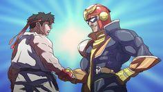 Ryu and captain Falcon