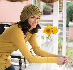 """Ridged Whirl Hat KIT ~ you can choose from 27 different colours  wow! no excuse now! ~ it's called a """"Whirl"""" hat so why not give it a """"whirl"""" (my bad!) ~ this hat decreases into a fun flower motif at the crown - how great is that - you be stylin' baby! ~ kit incl. 2 balls of yarn which is machine washable & dryable - added bonus ~ intermediate skill ~ pattern is downloadable at purchase ~ CROCHET"""