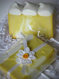 Lemon Meringue Soap by MalenasGourmet on Etsy, $5.00
