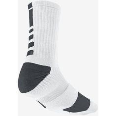 Nike Dri-FIT Elite Crew Basketball Socks ($14) ❤ liked on Polyvore featuring intimates, hosiery, socks, crew socks, nike, dri fit socks and nike socks