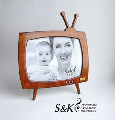 Photo frame Grandparent giftsPersonalized picture by SKWoodArt